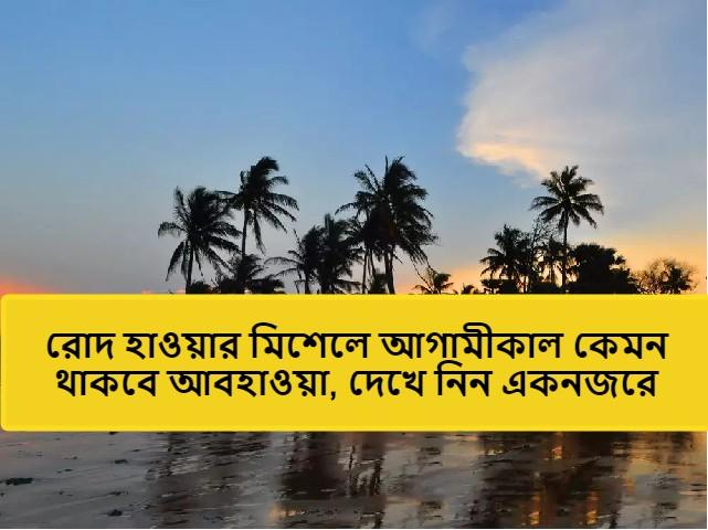 (weather forecast) আগামী দুদিন ব্যাপক বৃষ্টিপাত উত্তরবঙ্গে, গরম বাড়বে দক্ষিণবঙ্গে