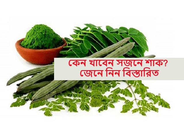 (Health benefits of Moringa plants) সজনে/মরিঙ্গা উদ্ভিদের স্বাস্থ্যগুণ