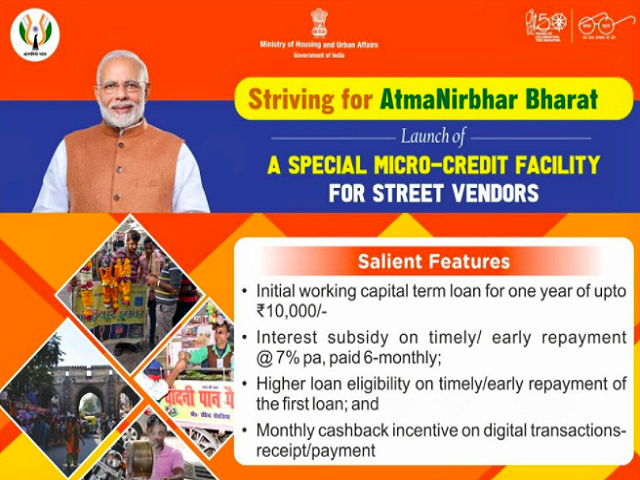 Govt scheme for helping street vendors