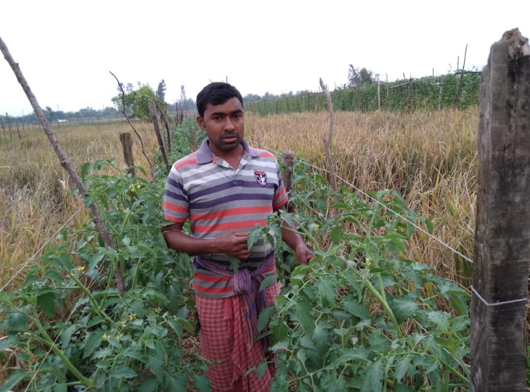 Successful farmer Surijit Biyeda
