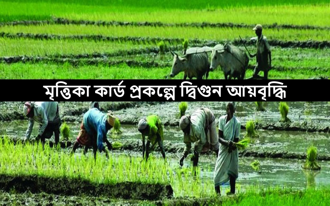 লক্ষ্য কৃষকদের দ্বিগুন আয় বৃদ্ধি - Soil Health Card Scheme